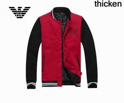 a3b7a74989c veste armani sans manche rouge